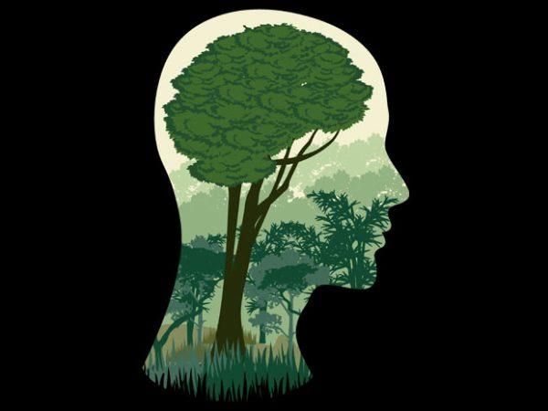 Brain Tree Tshirt Design