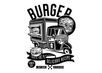 Burger Van Tshirt Design