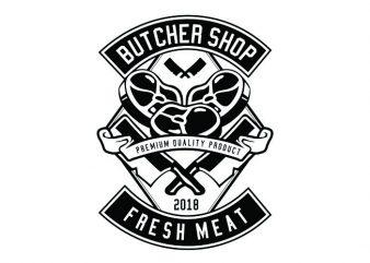 Butcher Tshirt Design