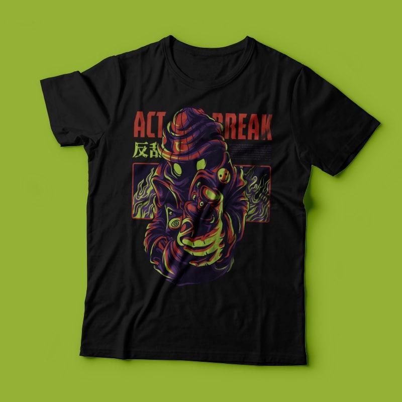 Act Break T-Shirt Design t shirt designs for printify
