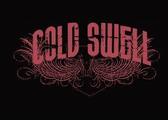 Cold Swell vector t-shirt design for commercial use