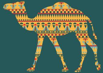 Camel Ornament Tshirt Design