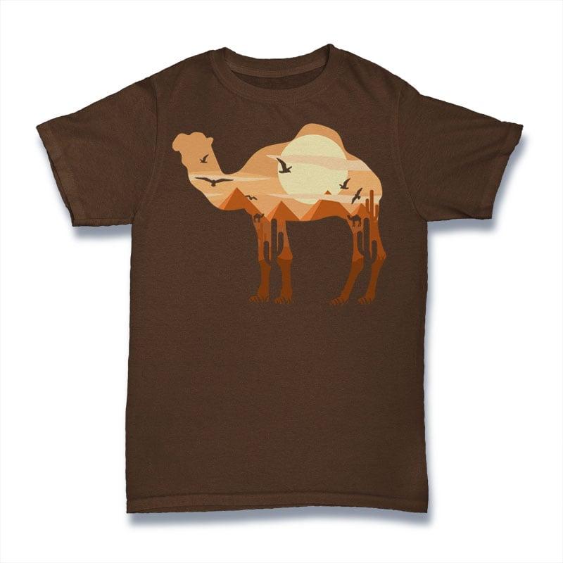 Camel buy t shirt design
