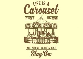 Carousel Graphic t-shirt design
