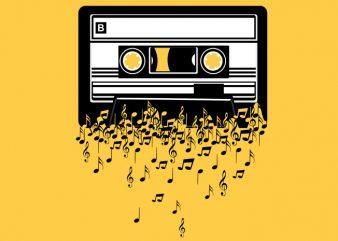 Cassette Tshirt Design