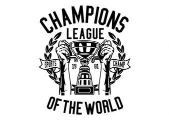 Champions League Tshirt Design
