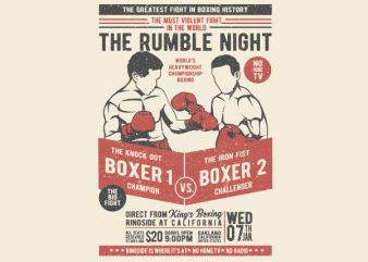 Classic Boxing Vector t-shirt design
