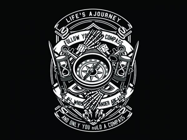 Compass Tshirt Design