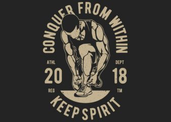 Conquer From Within Graphic t-shirt design