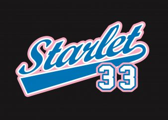 Starlet 33 design for t shirt