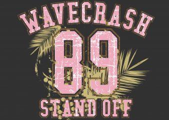 Wavecrash Stand Off vector t shirt design artwork
