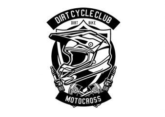 Dirt Cycle Club Tshirt Design