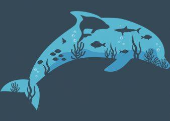 Dolphin Tshirt Design