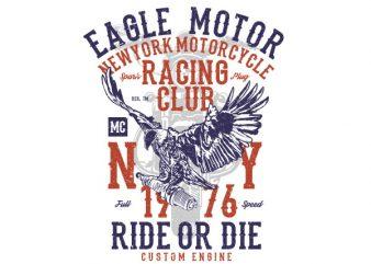 Eagle Motor Vector t-shirt design