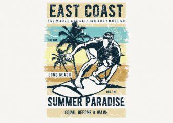 East Coast Vector t-shirt design