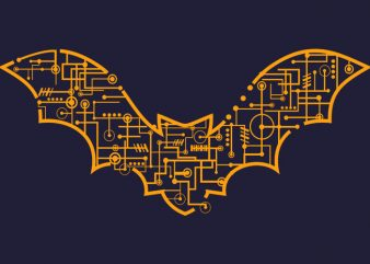 Electric Bat Tshirt Design