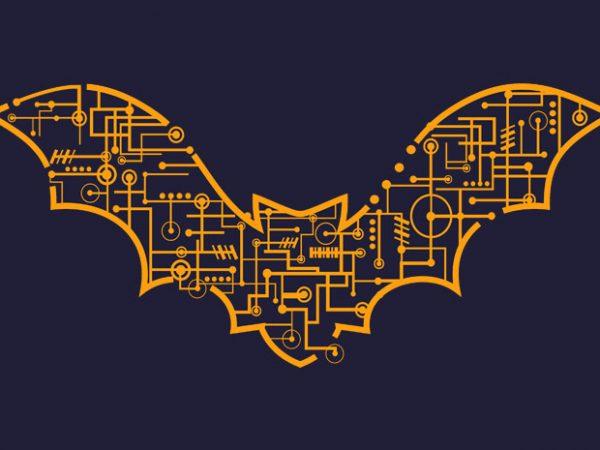 Electric Bat Tshirt Design