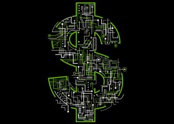 Electric Dollar Tshirt Design