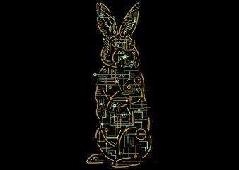 Electric Rabbit Tshirt Design