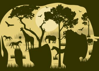 Elephant Forest Tshirt Design