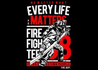 Every Life Matters Vector t-shirt design