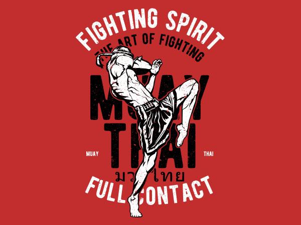 Fighting Spirit Vector t-shirt design