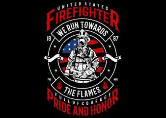 Firefighter Graphic t-shirt design