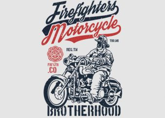 Firefighters Motorcycle Graphic t-shirt design