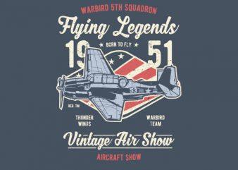 Flying Legends Graphic t-shirt design