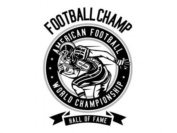 Football Champ Tshirt Design