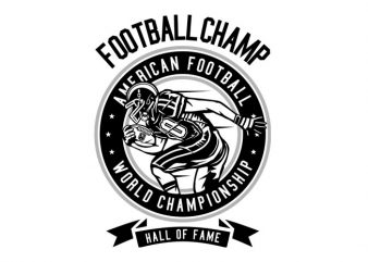 Football Champ Tshirt Design