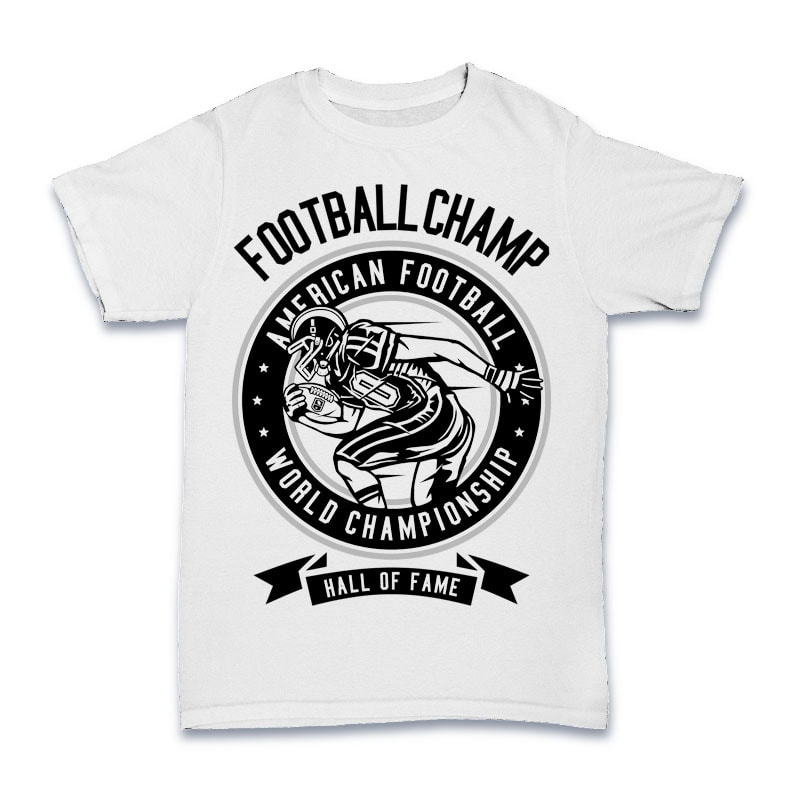 Football Champ Tshirt Design t shirt designs for teespring