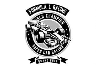 Formula 1 Racing Tshirt Design