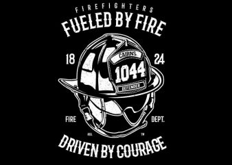 Fueled By Fire Vector t-shirt design