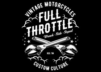 Full Throttle Vector t-shirt design