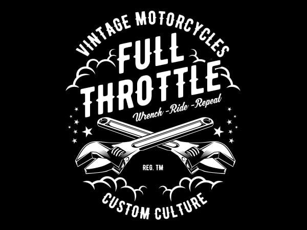 Full Throttle Vector t-shirt design