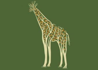 Giraffe Tshirt Design
