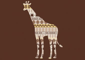 Giraffe Ornament Tshirt Design