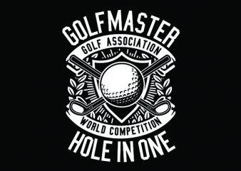 Golf Master Tshirt Design