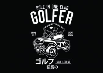 Golf Truck Tshirt Design