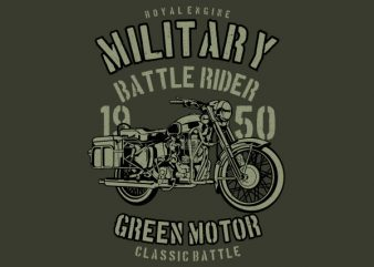 Green Military Ride Graphic t-shirt design