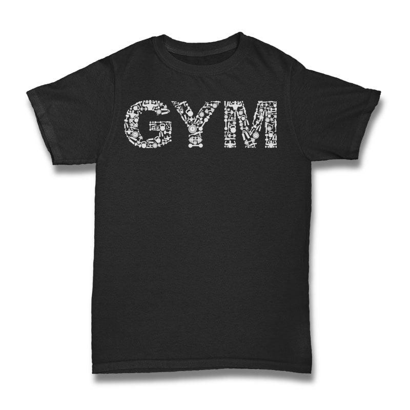 Gym Tshirt Design tshirt-factory.com