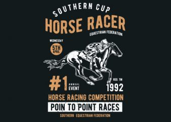 Horse Racer Graphic t-shirt design