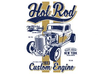 Hot Rod New York Graphic t-shirt design