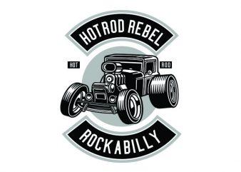 Hotrod Rebel Tshirt Design