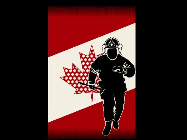 Canadian Fireman Flag buy t shirt design artwork