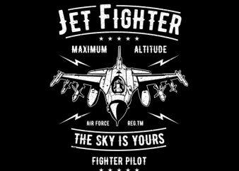 Jet Fighter Graphic t-shirt design