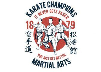 Karate Champions Graphic t-shirt design