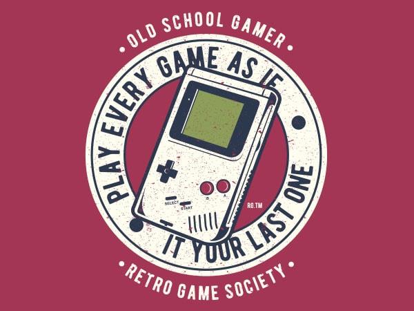 Last Game Graphic t-shirt design
