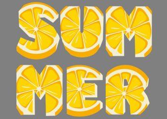 Lemon Summer Tshirt Design